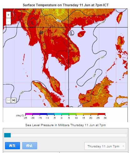 ベトナム気温図