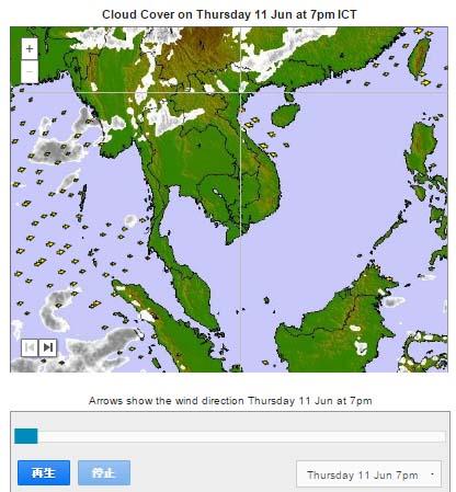 ベトナム雲地図